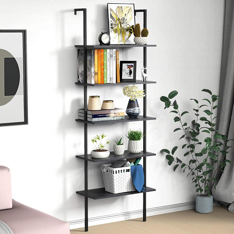 """<h2><a href=""""https://www.amazon.com/Bookshelf-Wall-Mounted-Industrial-Bookcase-Organizer/dp/B08CHFC1QM"""" rel=""""nofollow noopener"""" target=""""_blank"""" data-ylk=""""slk:Mounted Industrial Ladder Bookcase"""" class=""""link rapid-noclick-resp"""">Mounted Industrial Ladder Bookcase</a></h2><br>Always fantasized of having a home office, but figured your small apartment rendered that dream impossible? Meet the mounted bookshelf that's here to make your dreams come true. <br><br><strong>UVII</strong> Mounted Industrial Ladder Bookcase, $, available at <a href=""""https://www.amazon.com/Bookshelf-Wall-Mounted-Industrial-Bookcase-Organizer/dp/B08CHFC1QM"""" rel=""""nofollow noopener"""" target=""""_blank"""" data-ylk=""""slk:Amazon"""" class=""""link rapid-noclick-resp"""">Amazon</a>"""