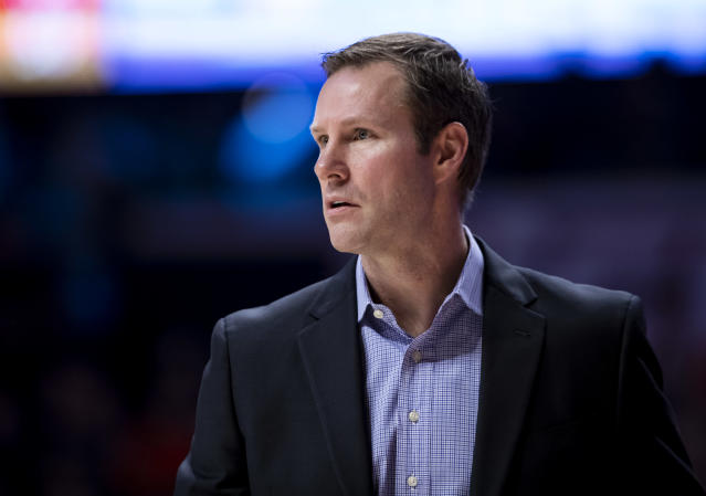 Fred Hoiberg headed to the hospital after exiting Nebraska's Big Ten Tournament game. (Photo by Michael Hickey/Getty Images)