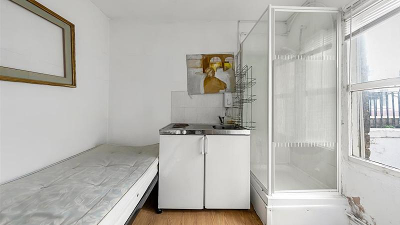A 'micro flat' for sale in London