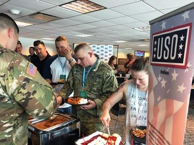 For the third consecutive year, Bryant Heating & Cooling Systems hosted more than 150 Indiana service members at its Indianapolis Motor Speedway suite on Armed Forces Day. Attendees were able to enjoy complimentary refreshments and visit the pit areas to interact with race teams and drivers. Bryant and the USO of Indiana co-hosted the event.