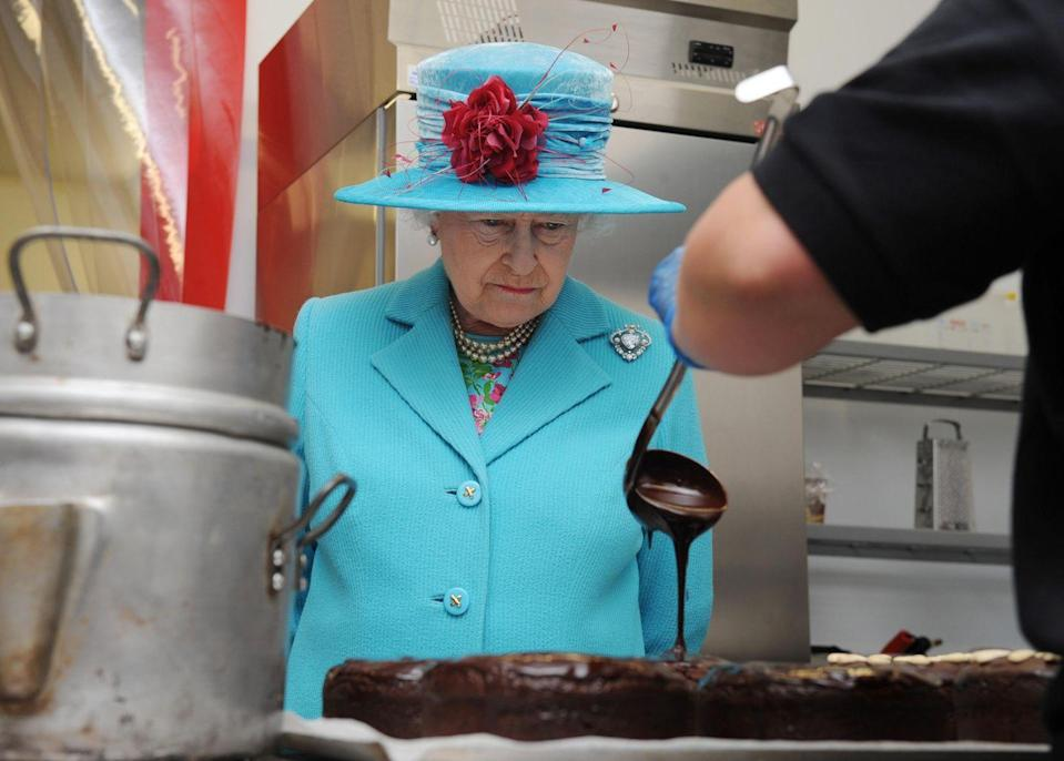 "<p>Yeah, yeah, I know, we talked about this. But there will NEVER 👏 BE 👏 <a href=""https://www.delish.com/food-news/a22083129/camilla-parker-bowles-royals-cant-eat-garlic/"" rel=""nofollow noopener"" target=""_blank"" data-ylk=""slk:GARLIC"" class=""link rapid-noclick-resp"">GARLIC</a> 👏 IN 👏 THE 👏 CASTLE 👏 ON 👏 THE 👏 QUEEN'S 👏 WATCH. </p>"