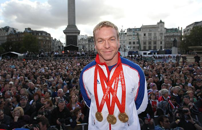 Chris Hoy won three golds in China 13 years ago (Steve Parsons/Pool/PA) (PA Archive)
