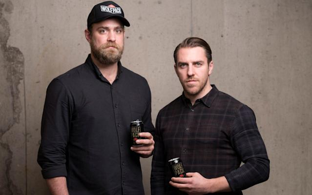 <span>Large beer: Alistair Hargreaves and former Saracens teammate Chris Wyles have set up Wolfpack Brewery </span> <span>Credit: Andrew Crowley </span>