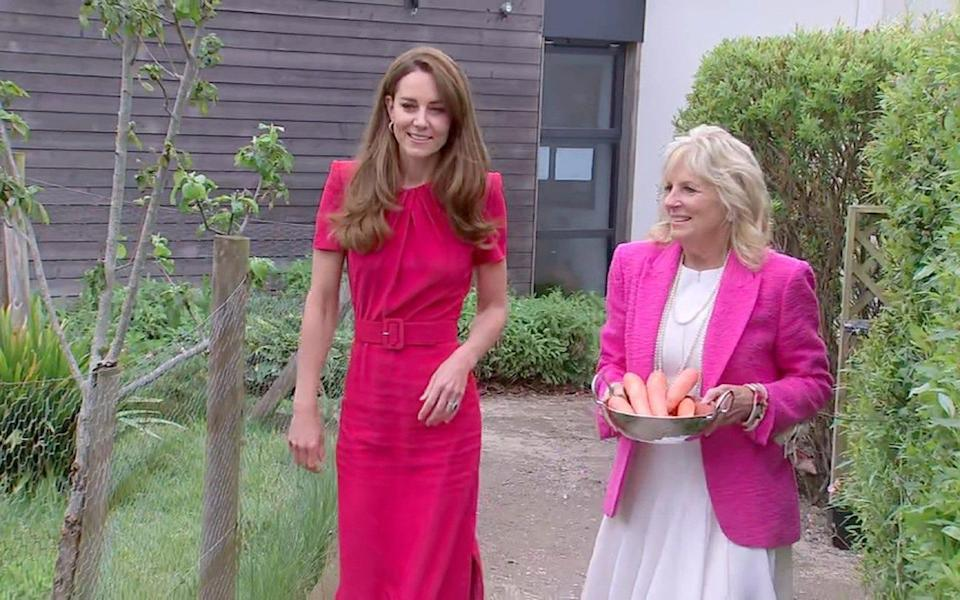 The Duchess of Cambridge and Dr Jill Biden at the G7