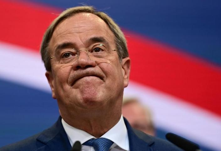 Conservative leader Armin Laschet led his party to a historic low score (AFP/Ina Fassbender)