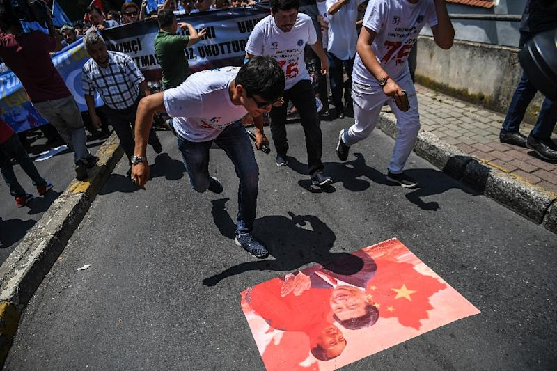China's treatment of its Uighur minority has sparked protests in countries like Turkey (AFP Photo/OZAN KOSE)
