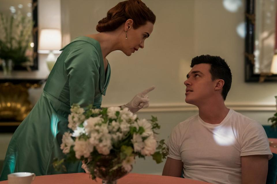 RATCHED (L to R) SARAH PAULSON as MILDRED RATCHED and FINN WITTROCK as EDMUND TOLLESON in episode 105 of RATCHED Cr. SAEED ADYANI/NETFLIX © 2020