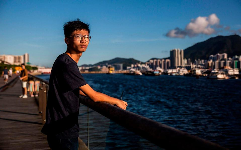 Tony Chung has been an active participant in the Hong Kong protests, working with the group Studentlocalism - ISAAC LAWRENCE /AFP