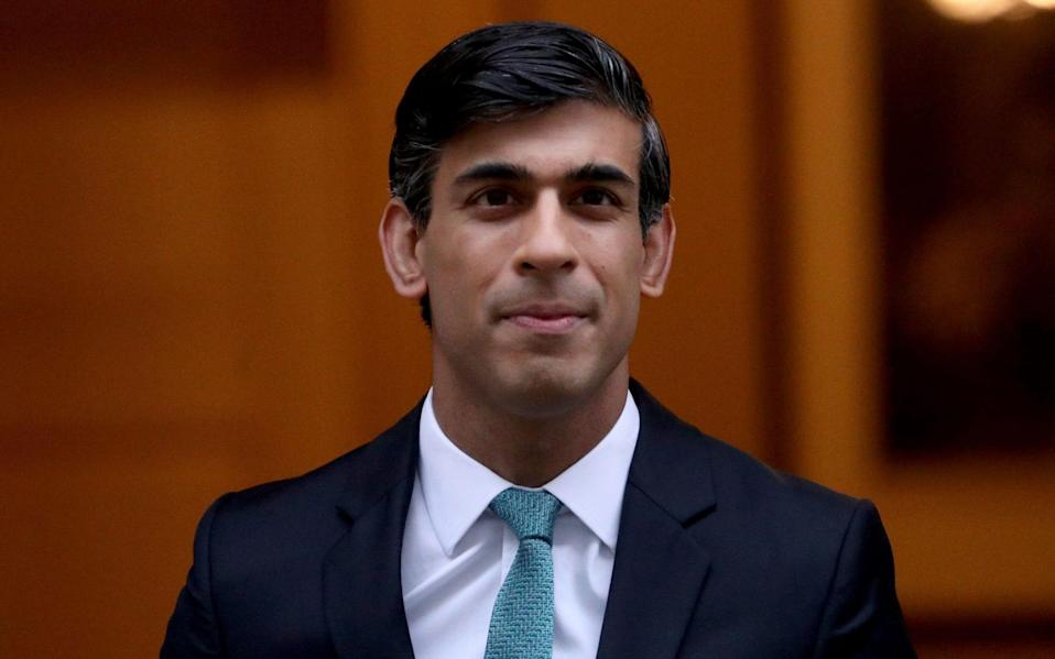 Rishi Sunak has previously floated the idea of the grants being capped at 20 per cent, not 80 per cent, of profits when the economy picks up - Yui Mok/PA