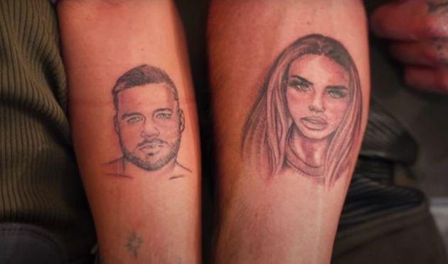 Carl Woods and Katie Price tattoos (Photo: YouTube)