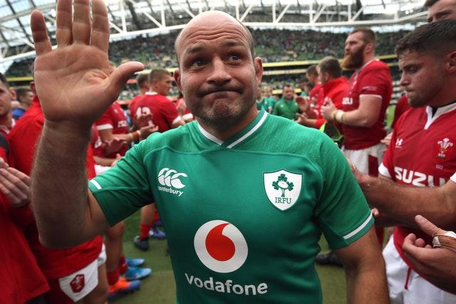 Ireland captain Rory Best waves to fans after winning his last home match - the Guinness Summer Series against Wales