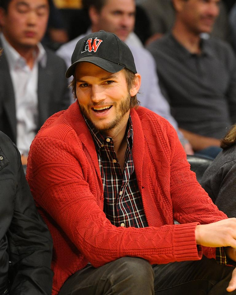 "Picking up where Charlie Sheen left off, 34-year-old Ashton Kutcher joined the ""Two and a Half Men"" cast with much hype for the 2011-2012 season. He is shooting a Steve Jobs biopic where he plays the Silicon Valley entrepreneur. Kutcher at Staples Center on May 1, 2012 in Los Angeles, California. (Photo by Noel Vasquez/Getty Images)"