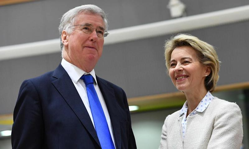 Fallon with German defence minister Ursula von der Leyen.