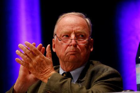 FILE PHOTO: Alexander Gauland of Germany's far-right Alternative for Deutschland (AfD) is seen during a campaign in Pforzheim, Germany September 6, 2017. REUTERS/Kai Pfaffenbach/File Photo