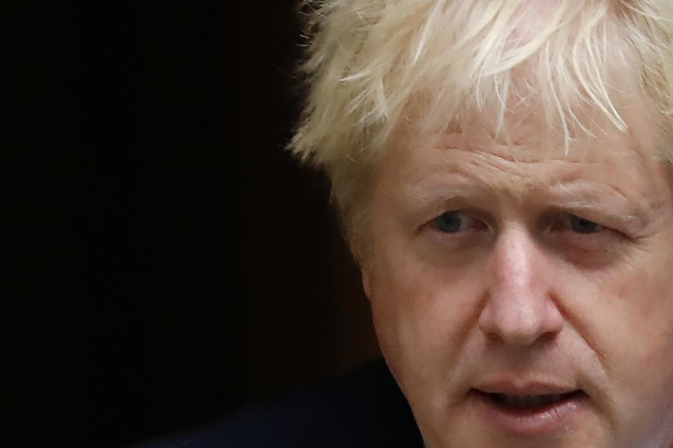 Britain's Prime Minister Boris Johnson leaves number 10 Downing Street in central London on September 26, 2019, to attend a meeting with the 1922 commitee. - Britain's Prime Minister Boris Johnson faced an angry backlash from across the political spectrum on September 26, 2019, following a series of angry exchanges in parliament over Brexit. (Photo by Tolga AKMEN / AFP)        (Photo credit should read TOLGA AKMEN/AFP/Getty Images)