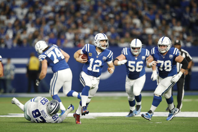 The Colts bullied their way past the Cowboys on Sunday. QB Andrew Luck has had a season worthy of Comeback Player of the Year honors. (Getty Images)