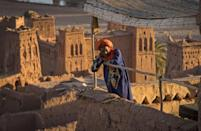 Morocco's Ait-Ben-Haddou is a UNESCO World Heritage site that has served as the backdrop for numerous movies