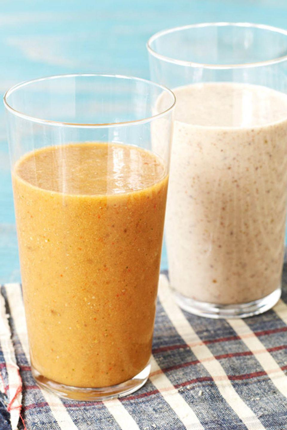 """<p>Packed with good stuff like chia seeds and goji berries, this smoothie will keep you full until lunch. </p><p><em><a href=""""http://www.delish.com/cooking/recipe-ideas/recipes/a22571/sages-smoothie-recipe-del0214/"""" rel=""""nofollow noopener"""" target=""""_blank"""" data-ylk=""""slk:Get the recipe from Delish »"""" class=""""link rapid-noclick-resp"""">Get the recipe from Delish »</a></em></p>"""
