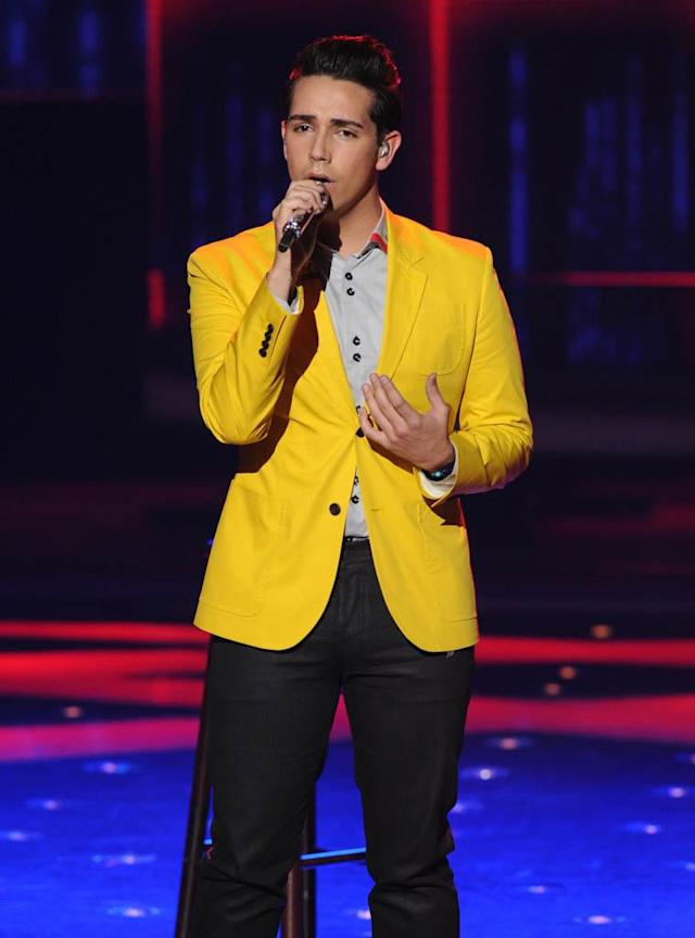 "Lazaro Arbos performs The Beatles' ""In My Life"" on the Wednesday, March 20 episode of ""American Idol."""