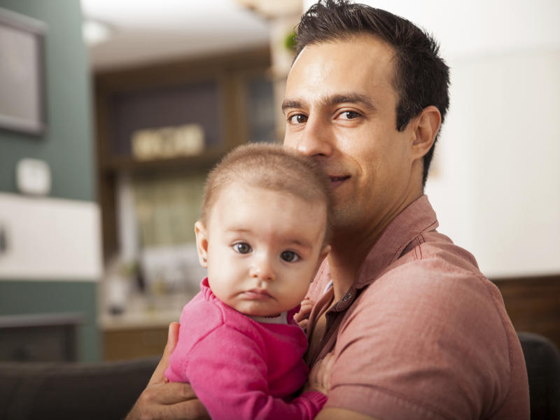 Single dads tended to have less healthy lifestyles, with more binge drinking and eating less fruit and veg: iStock