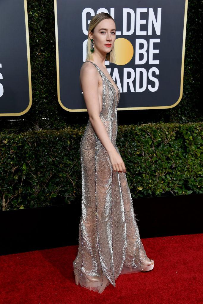 <p>Presenter Saoirse Ronan attends the 76th Annual Golden Globe Awards at the Beverly Hilton Hotel in Beverly Hills, Calif., on Jan. 6, 2019. (Photo: Getty Images) </p>