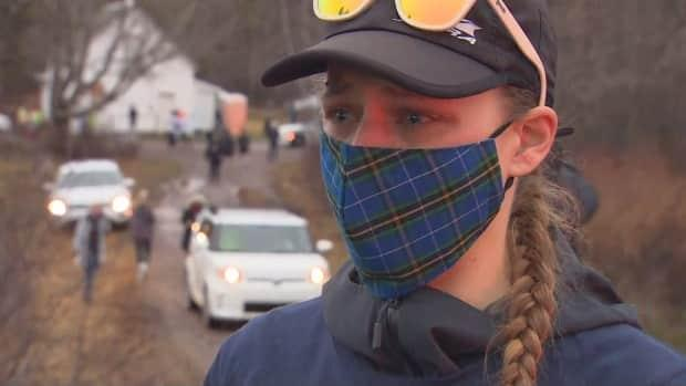 Jill Arany ran in the memorial marathon on Sunday as a way to honour the victims of last year's mass killing. Among the 22 people killed on April 18-19, 2020, were a 23-year veteran of the RCMP, a pregnant continuing-care assistant and a 17-year-old girl. (CBC - image credit)