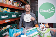 """<p>Grab a box and on each day of advent fill with an item of food for those less fortunate this Christmas time. When the box is full donate it to your <a href=""""https://www.trusselltrust.org/"""" rel=""""nofollow noopener"""" target=""""_blank"""" data-ylk=""""slk:local food bank"""" class=""""link rapid-noclick-resp"""">local food bank</a>. A Christmas tradition worth getting into. </p><p><i>[Photo: Trussell Trust]</i></p>"""