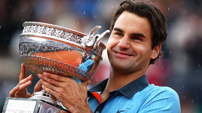 Roger Federer, pictured here after winning the 2009 French Open.