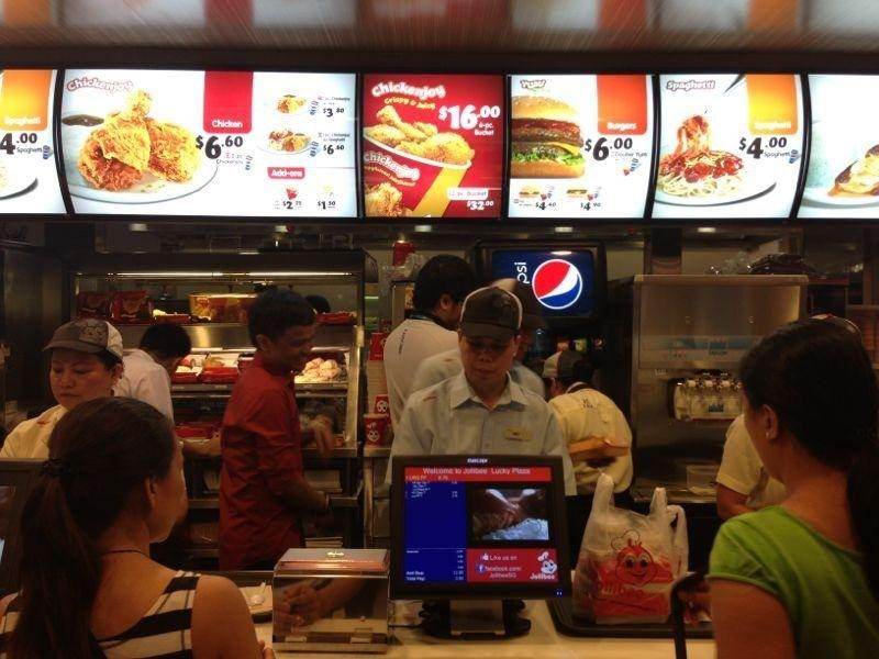 Besides its signature dish - called Chickenjoy - Jollibee's menu also offers the 100% pure beef Yumburger and the fresh, meaty Jollibee Spaghetti.