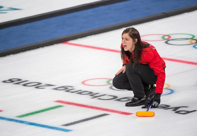 Eve Muirhead's British rink are into the semi-finals of the women's Olympic curling tournament (picture Andy J Ryan/Team GB)
