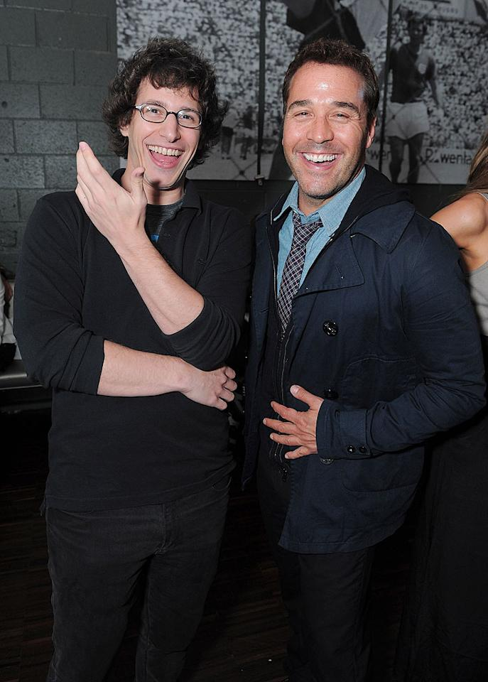 "Andy Samberg and Jeremy Piven were all smiles at ""The Darker Side Of Green"" eco debate hosted by the ""SNL"" funnyman at Palihouse Holloway in West Hollywood Thursday night. Jordan Strauss/<a href=""http://www.wireimage.com"" target=""new"">WireImage.com</a> - July 8, 2010"