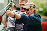 """Director Michael Bay on the set of Paramount Pictures' """"Pain & Gain"""" - 2013"""