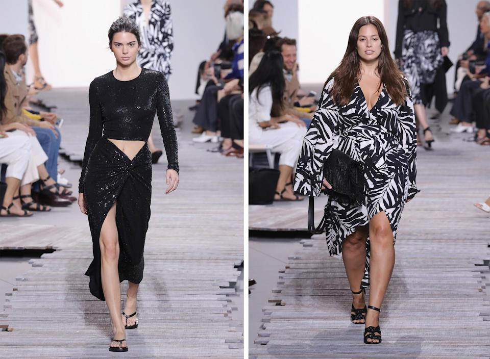 Kendall Jenner and Ashley Graham both walked the show [Photo: Getty]