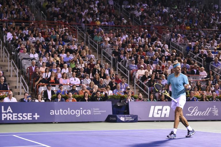 Rafael Nadal, here celebrating his quarter-final win over Fabio Fognini, reached the ATP Montreal Masters final by walkover when Gael Monfils withdrew