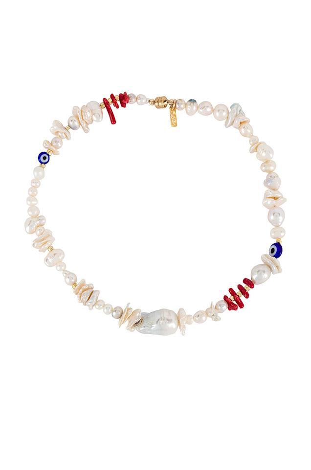 """<p>This colorful <a href=""""https://www.popsugar.com/buy/Joolz-Martha-Calvo-Alessa-Pearl-Necklace-581586?p_name=Joolz%20by%20Martha%20Calvo%20Alessa%20Pearl%20Necklace&retailer=revolve.com&pid=581586&price=198&evar1=fab%3Aus&evar9=34784732&evar98=https%3A%2F%2Fwww.popsugar.com%2Ffashion%2Fphoto-gallery%2F34784732%2Fimage%2F47546028%2FJoolz-by-Martha-Calvo-Alessa-Pearl-Necklace&list1=shopping%2Cjewelry%2Caccessories%2Cfashion%20trends%2Cpearls&prop13=mobile&pdata=1"""" rel=""""nofollow"""" data-shoppable-link=""""1"""" target=""""_blank"""" class=""""ga-track"""" data-ga-category=""""Related"""" data-ga-label=""""https://www.revolve.com/joolz-by-martha-calvo-alessa-pearl-necklace/dp/JOOL-WL421/?d=Womens&amp;page=1&amp;lc=8&amp;plpSrc=%2Fr%2FSearch.jsp%3Fd%3DWomens%26search%3Dpearl%2Bjewelry%26sortBy%3Dfeatured&amp;itrownum=2&amp;itcurrpage=1&amp;itview=05"""" data-ga-action=""""In-Line Links"""">Joolz by Martha Calvo Alessa Pearl Necklace</a> ($198) is so unique.</p>"""