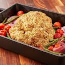 """<p>A whole roasted cauliflower makes for a fantastic vegetarian main dish. This one is roasted around extra veggies and has a slightly sweet balsamic glaze over it. It's easy to throw together and will leave you feeling full, not heavy. </p><p>Get the <a href=""""https://www.delish.com/uk/cooking/recipes/a33948230/balsamic-glazed-roasted-cauliflower-recipe/"""" rel=""""nofollow noopener"""" target=""""_blank"""" data-ylk=""""slk:Balsamic Glazed Roasted Cauliflower"""" class=""""link rapid-noclick-resp"""">Balsamic Glazed Roasted Cauliflower</a> recipe.</p>"""