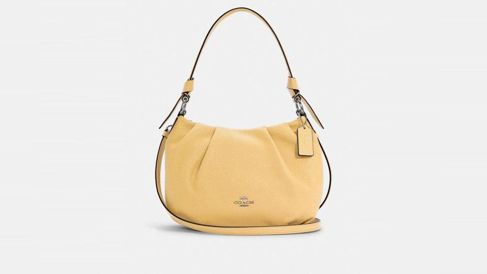 A leather shoulder bag is a must-have in anyone's closet.