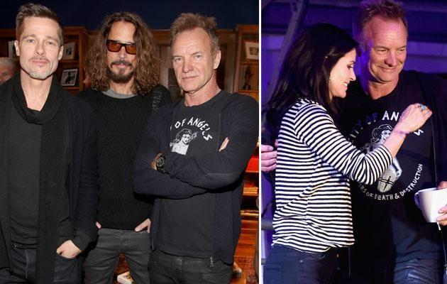 Brad and Courteney both attended the Rock 4 Eb! benefit on January 14. Source: Getty