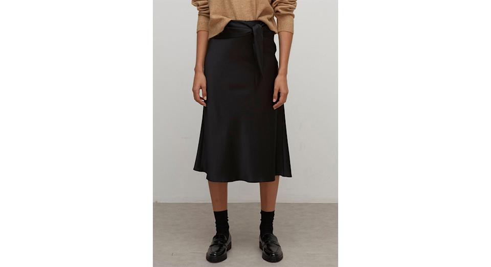 Nobody's Child Satin Midi Wrap Skirt (Marks and Spencer)