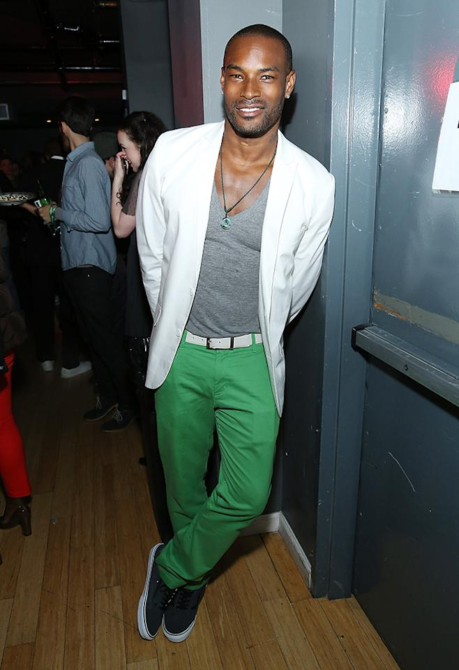NEW YORK, NY - APRIL 20:  Model and actor Tyson Beckford attends as Heineken and the Tribeca Film Institute present the Heineken Affinity Award at Stage 48 on April 20, 2013 in New York City.  (Photo by Rob Kim/Getty Images for Heineken)