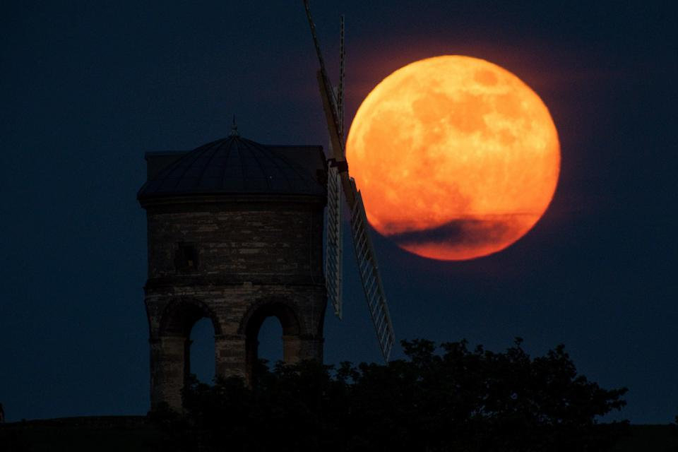 A supermoon in May last yearPA