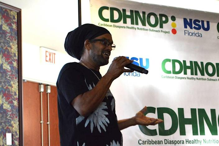 Antiguan reggae artist Causion, who was himself diagnosed with colon cancer last year, is one of the Caribbean influencers participating in webinars sponsored by the Caribbean Diaspora Healthy Nutrition Outreach Project.