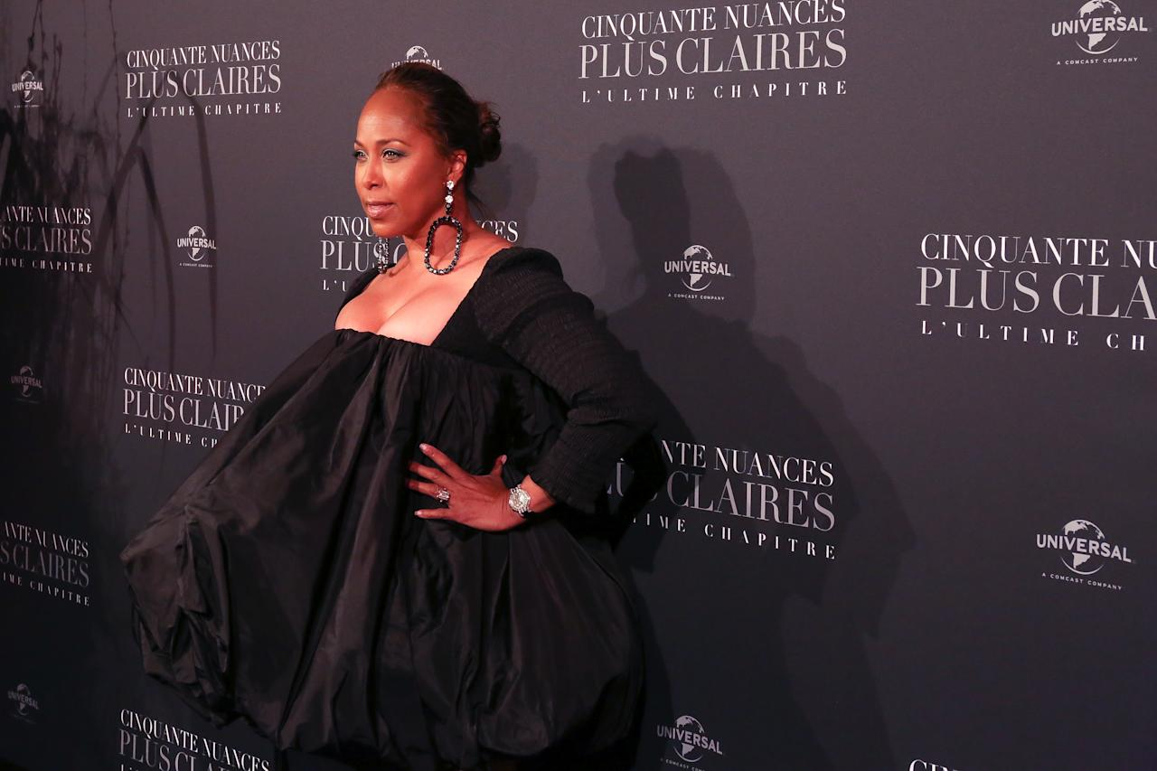 <p>Marjorie Elaine Harvey photographed for the Fifty Shade Freed Premiere on Feb 6, 2018 in Paris, France. (Photo by Olivier VIGERIE / Contour by Getty Images) </p>