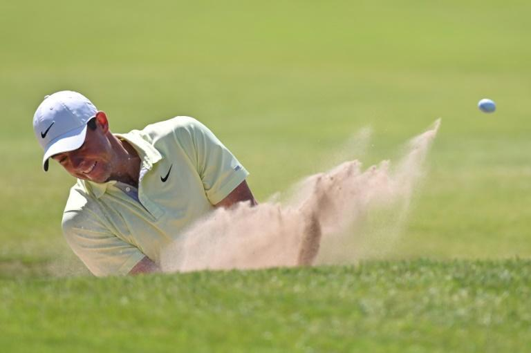 Rory McIlroy is in danger of missing the cut for the second consecutive British Open