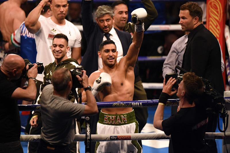 Blink and you'll miss it | Khan wins comeback fight in just 40 seconds: Oli Scarff/AFP/Getty Images