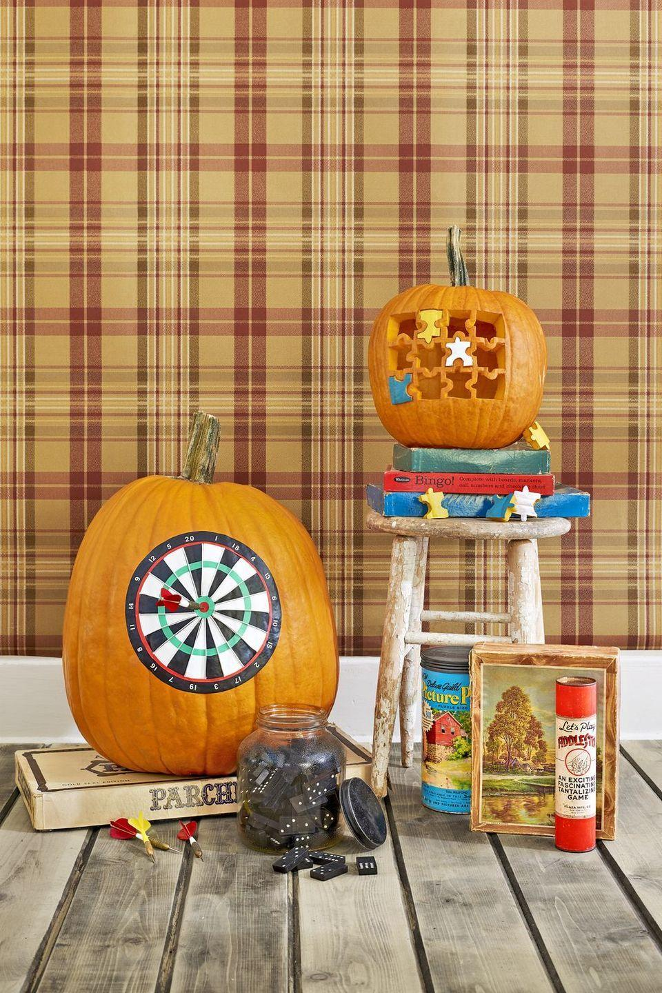 <p>This adorable pumpkin doubles as a kid-friendly activity that'll actually keep them entertained. You can even turn it into a competition by challenging party-goers to complete the puzzle for prizes ... okay, candy. </p>