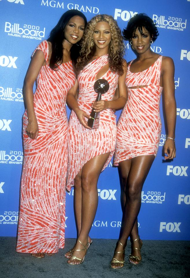Golden Globe nominee Beyoncé Knowles was working some twinsie style with Destiny's Child at the Billboard Awards in 2000.