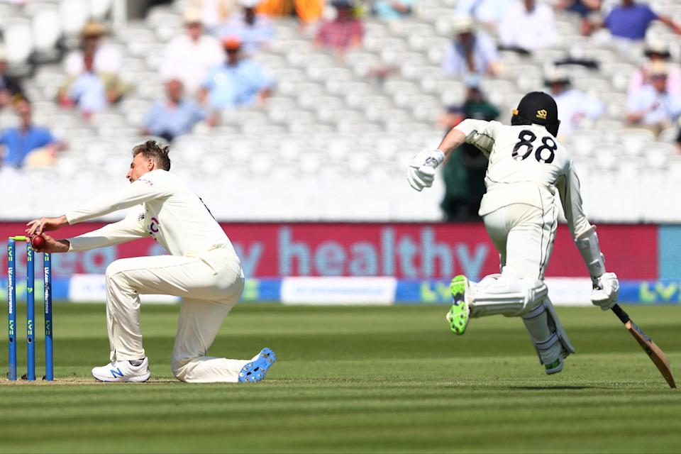 <p>It took a run out to finally dismiss Devon Conway</p> (Getty Images)