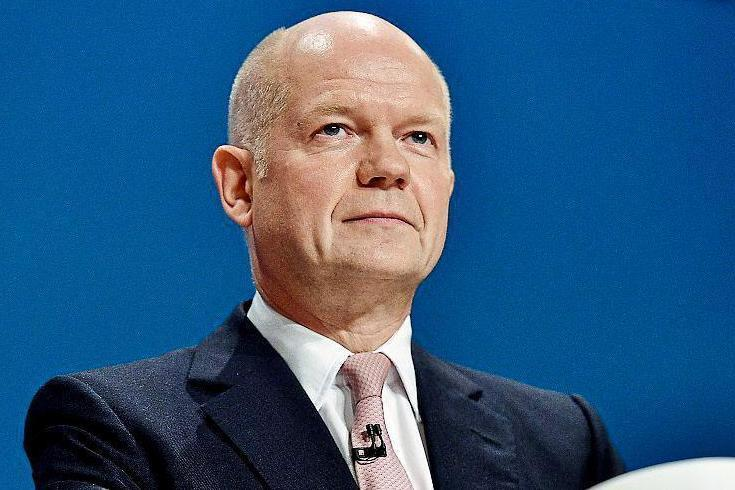 Back in the political spotlight: former Foreign Secretary William Hague