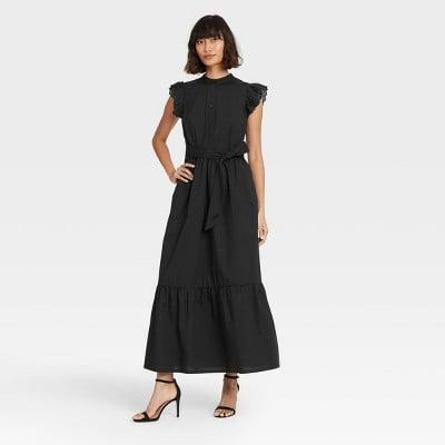 <p>This <span>Who What Wear Ruffle Short Sleeve A-Line Dress</span> ($40) is one you'll wear often.</p>